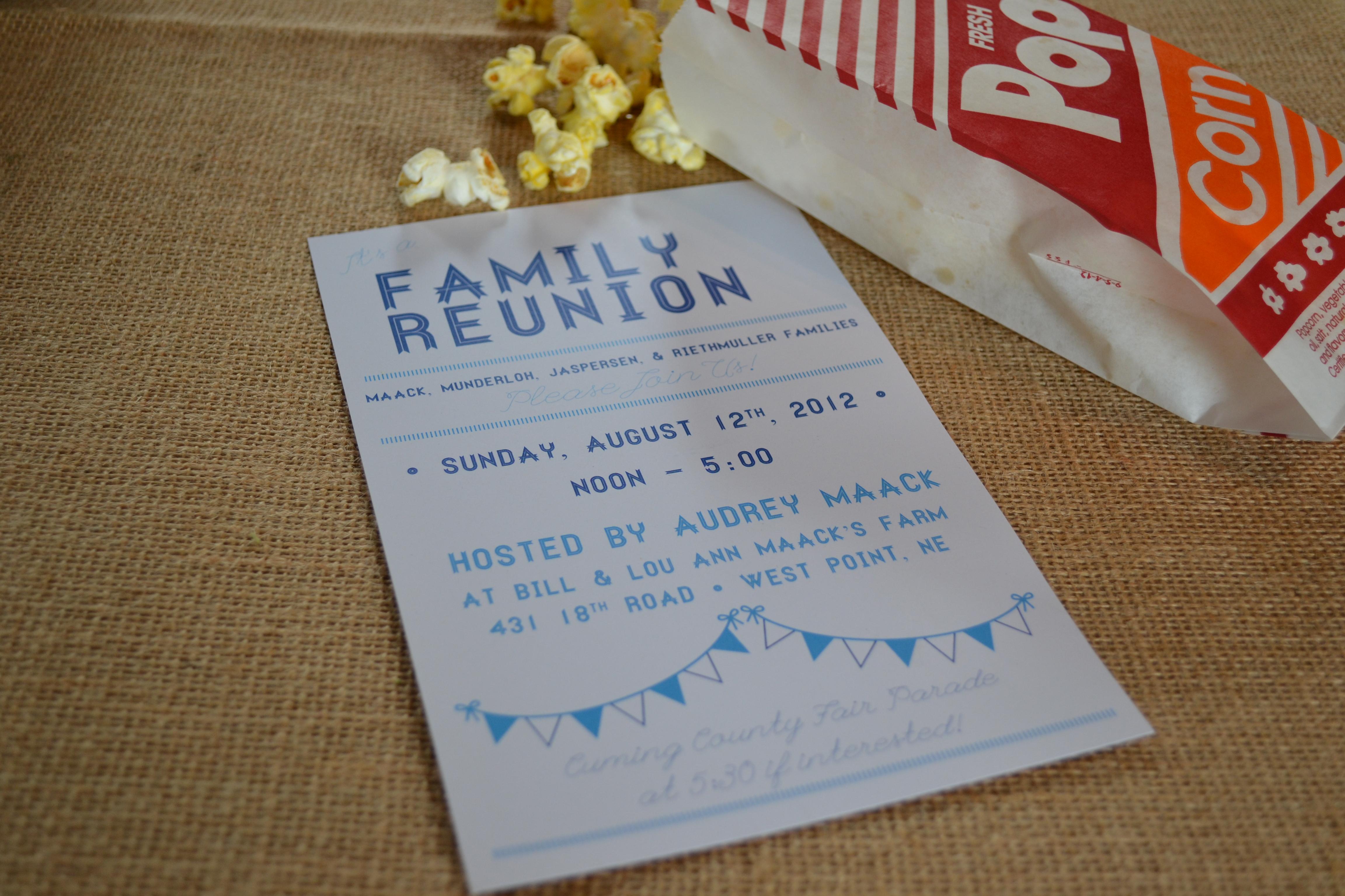 Reunion Invitation as beautiful invitation template